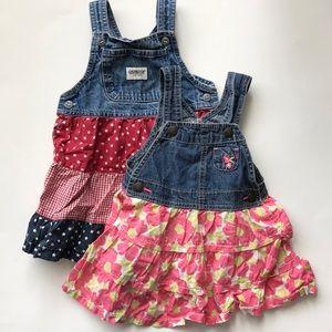 Set of 2♥️Bibbed Skirt Overalls